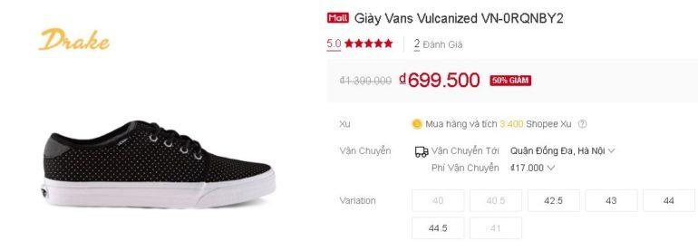giày Vans Vulcanized VN-0RQNBY2