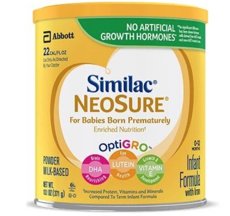Sữa Similac NEOSURE Infant Formula, 0-12 Months