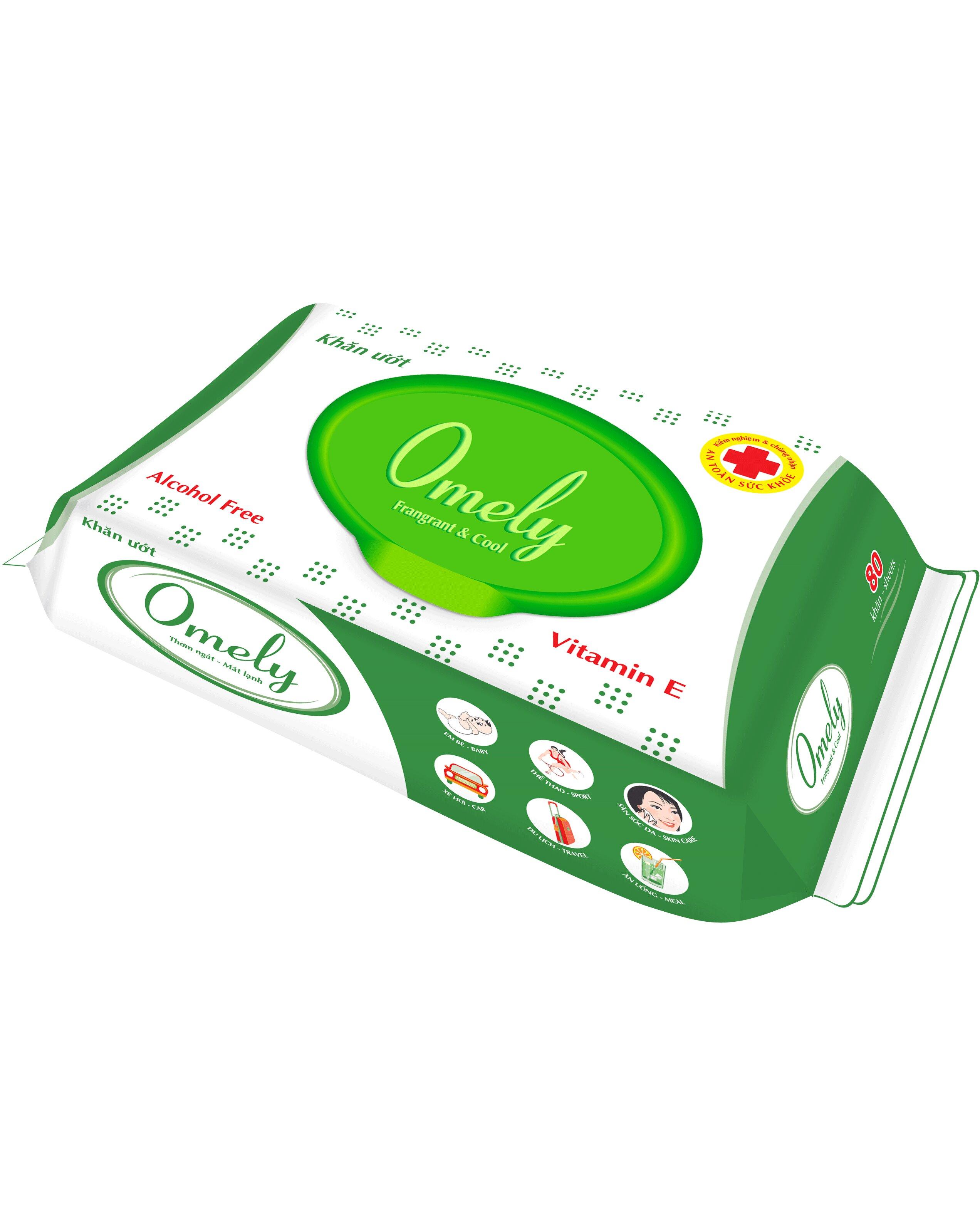 Khăn ướt Omely 4205 chứa vitamin E