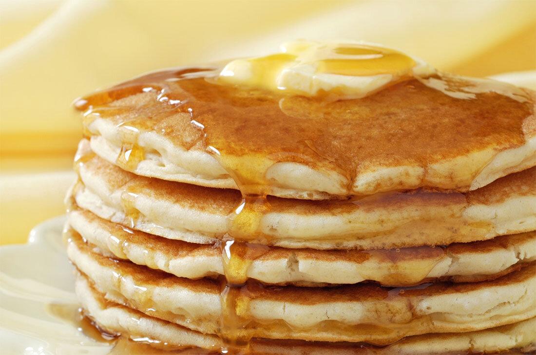 Bánh pancake táo hấp dẫn