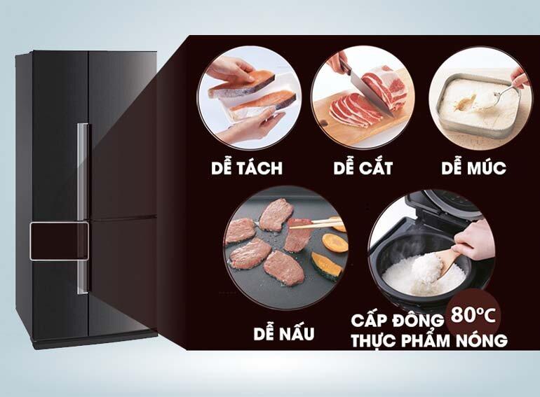 tủ lạnh mitsubishi cấp đông mềm
