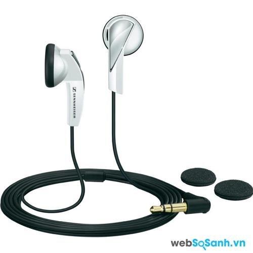 Tai nghe Sennheiser MX 365 màu đen-trắng