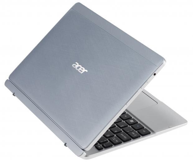Acer Aspire Switch 10 với vỏ nhôm vân xước chống bám bụi bẩn