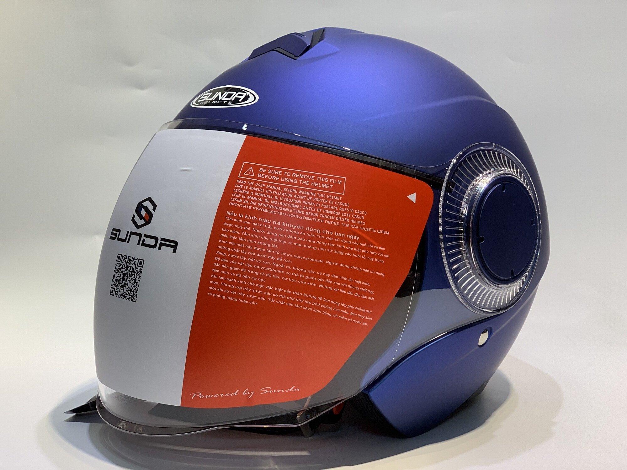 Mũ bảo hiểm kiểu trùm đầu fullface Sunda