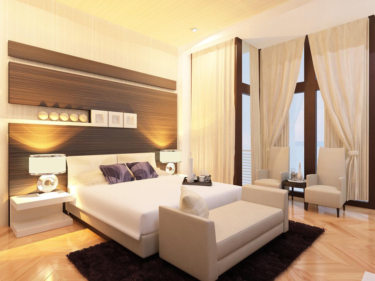 Đèn sưởi phòng ngủ làm ấm không gian phòng