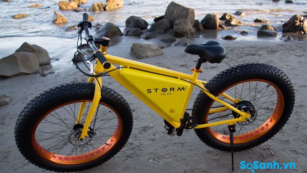 Thiết kế chẳng có mấy sự khác biệt với một chiếc xe đạp thông thường của xe đạp điện Storm