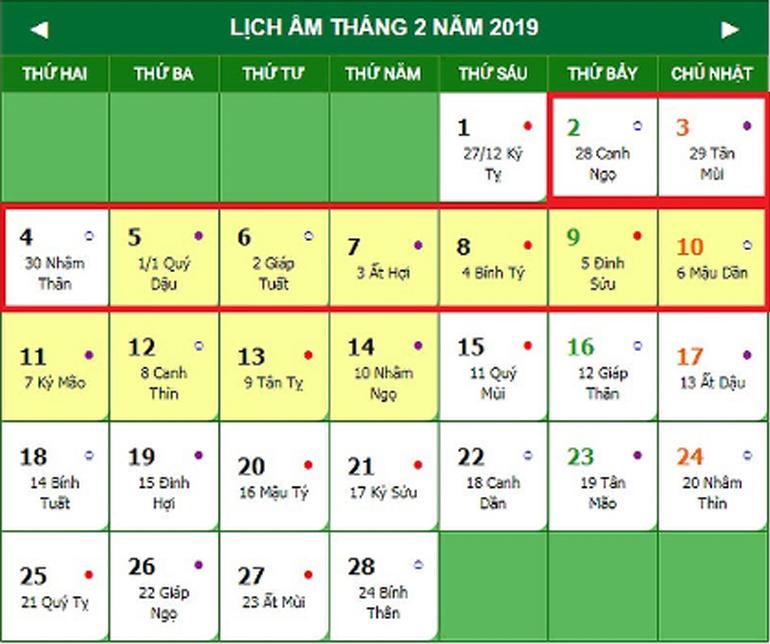 Tết Nguyên Đán 2019 là vào ngày nào ? Còn bao nhiêu ngày nữa là đến Tết ?