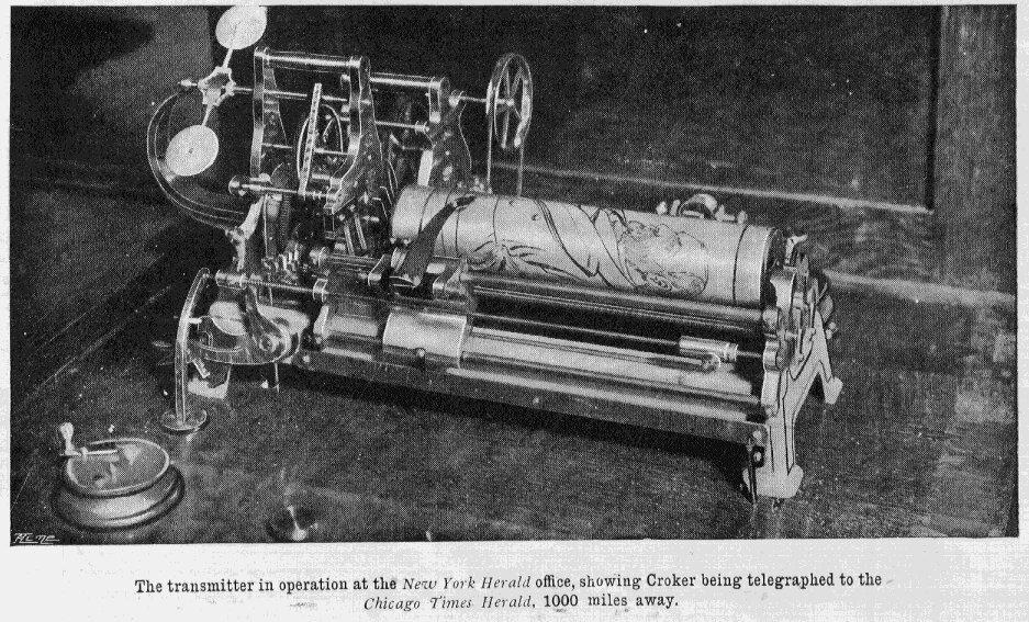 Máy fax cổ điển đầu tiên của thế giới.