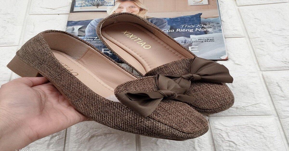 giày búp bê đế cao đơn giản