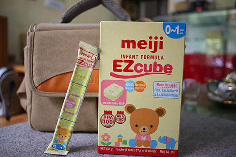 Sữa Meiji dạng thanh giúp bé tăng cân tốt và không lo táo bón
