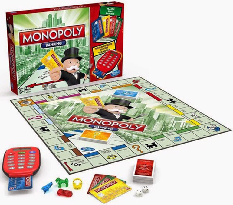 Đồ chơi cờ tỷ phú Monopoly Electronic Banking