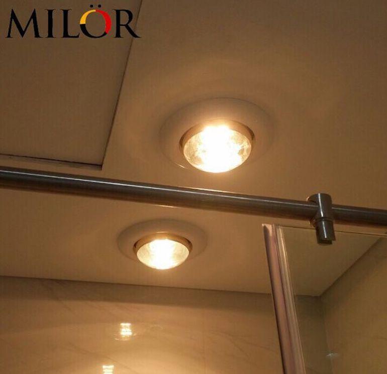 Lắp đặt đèn sưởi Milor 1 bóng đúng cách.