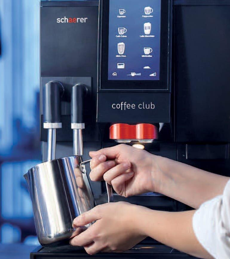 Chiếc máy pha cà phê Schaerer Coffee Club