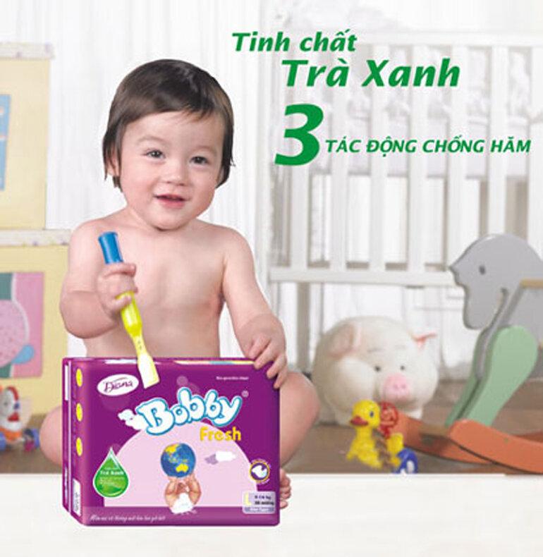 Bỉm Bobby là thương hiệu tã bỉm cho bé nổi tiếng hàng đầu của Tập đoàn Unicharm (Nhật Bản)