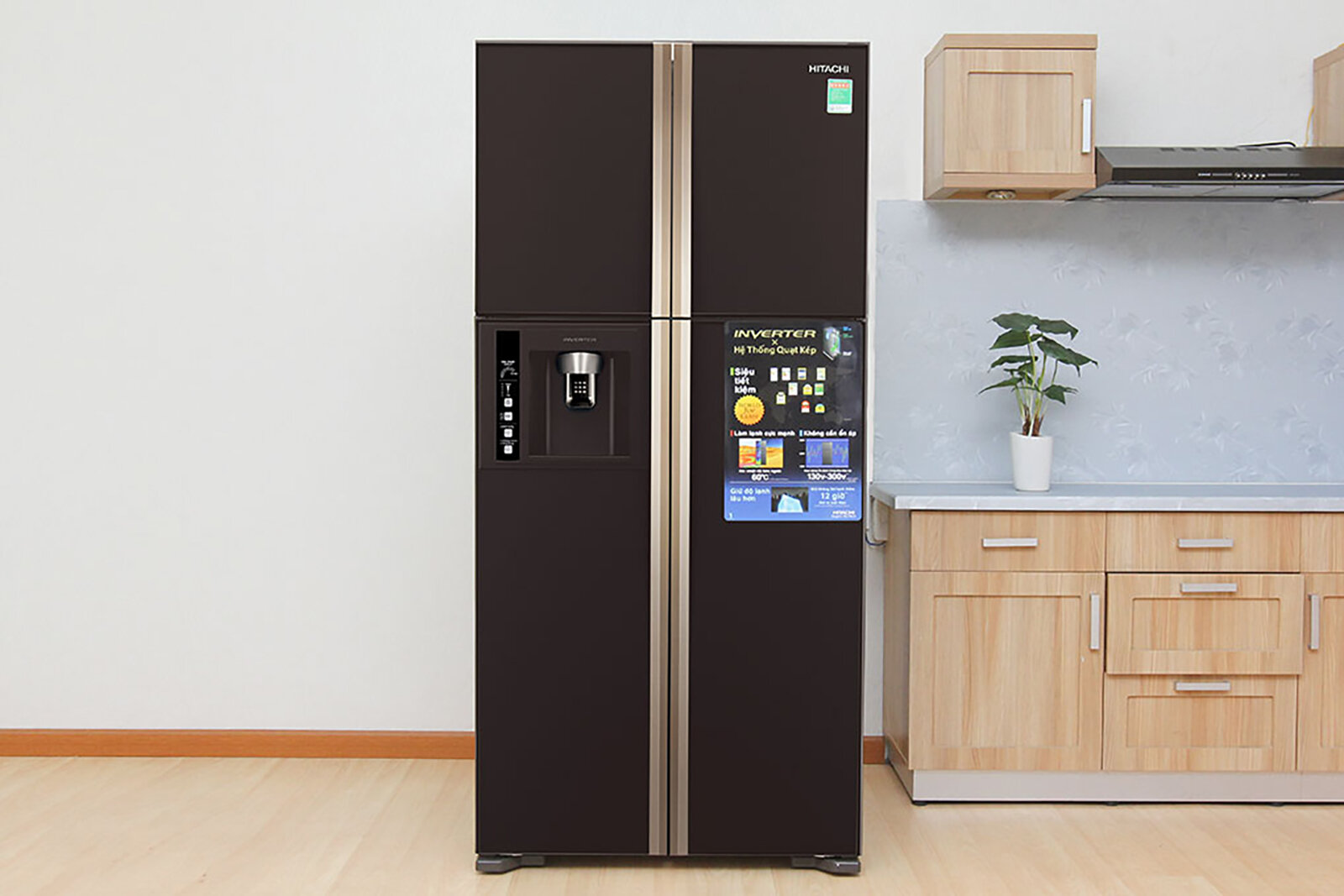 Tủ lạnh Hitachi - Tiết kiệm điện năng, thiết kế bắt mắt