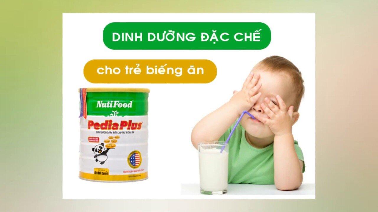 Nutifood Pedia Plus - bác sĩ dinh dưỡng thích hợp cho các trẻ chậm lớn và biếng ăn