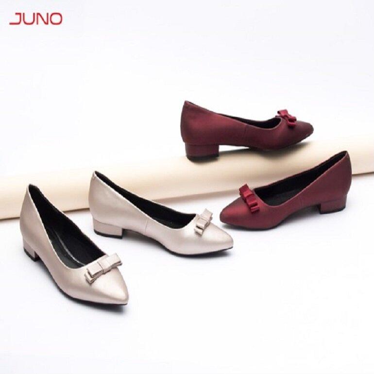 giày búp bê juno cao gót