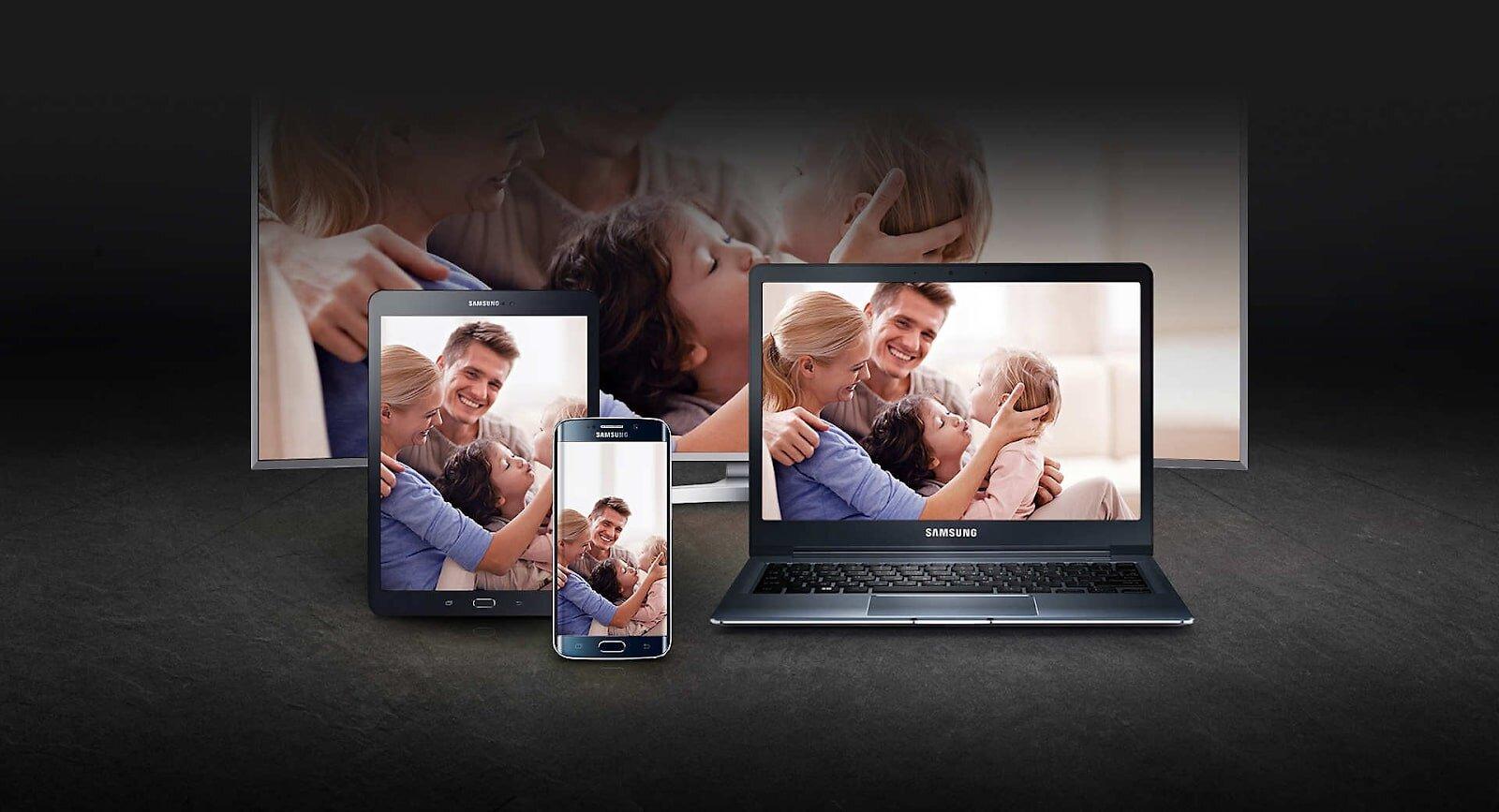 Điều khiển tivi bằng ứng dụng Samsung Smart view.