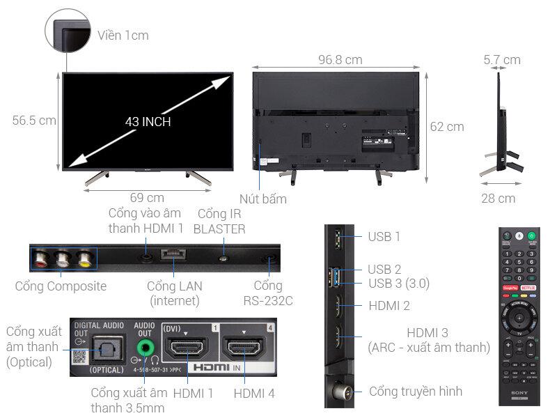Smart Tivi Sony 43X7500F