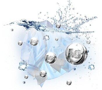 Công nghệ Nano AG+ khử trùng nước trong thùng giặt