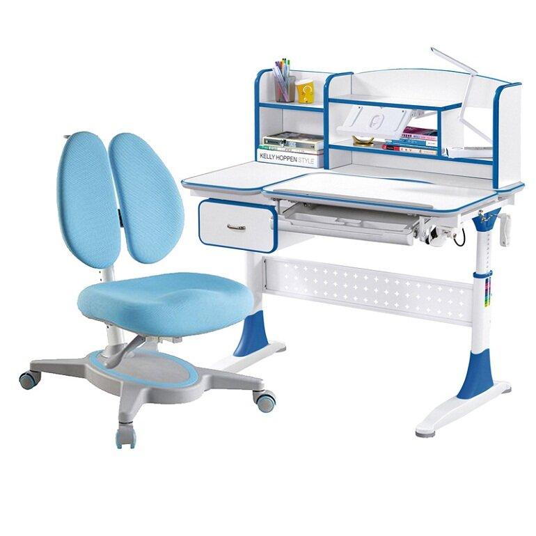 Ghế của bàn học thông minh có thể điều chỉnh độ cao, tựa lưng nâng đỡ và bảo vệ cột sống của bé.