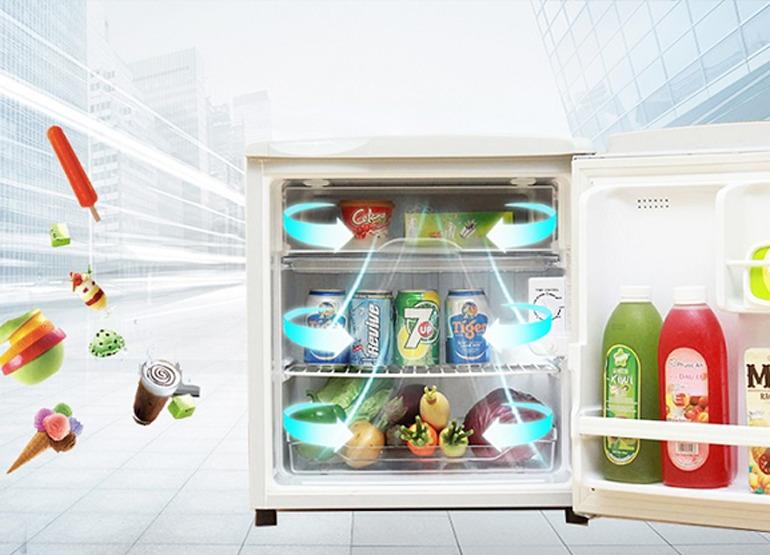 Tủ Lạnh AQUA 50 Lít AQR-55AR với công nghệ làm lạnh trực tiếp