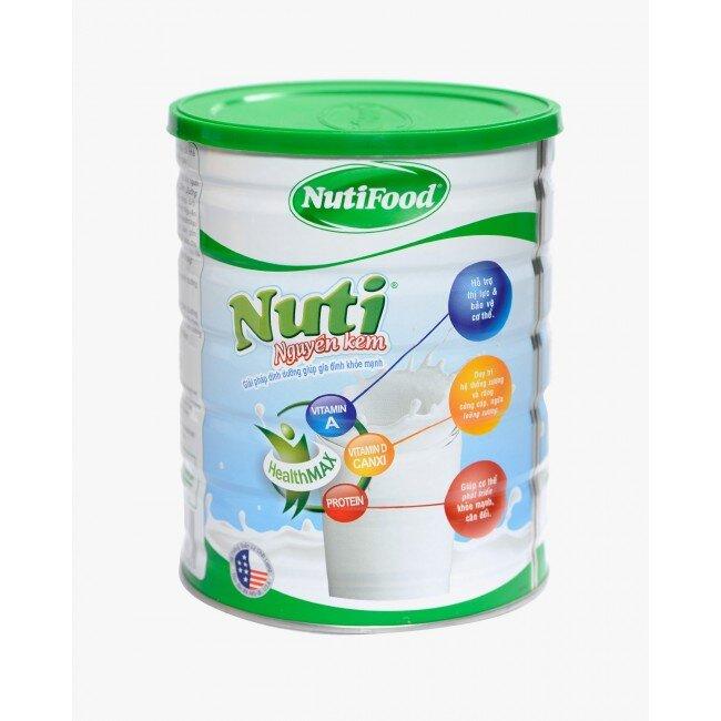 Sữa bột nguyên kem Nuti có công thức chứa sữa bột nguyên kem