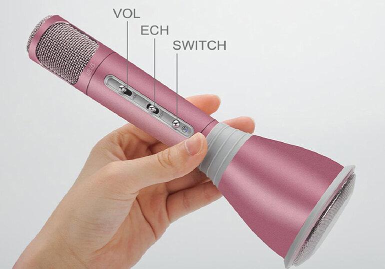 Micro karaoke bluetooth Cutepad với màu sắc bắt mắt