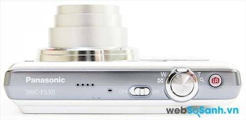 Máy ảnh du lịch Lumix DMC-FH20 sử dụng ống kính 28 mm với zoom 8x