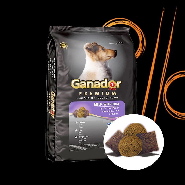 Thức ăn cho chó Ganador chứa nhiều thành phần dinh dưỡng khác nhau