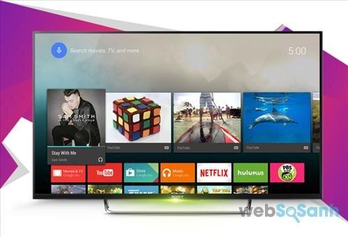 Android tivi Sony có dung lượng bộ nhớ nhiều