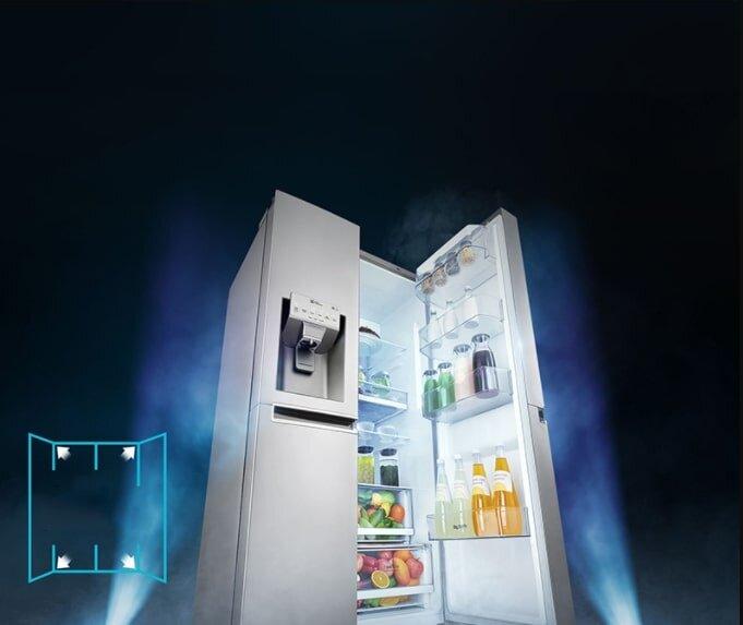Tủ lạnh Side-by-Side GR-D247JS sở hữu thiết kế sang trọng, hiện đại