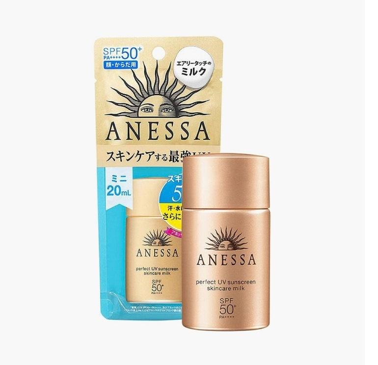 Kem chống nắng ANESSA Perfect UV sunscreen skincare milk SPF 50+ PA++++
