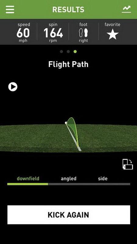 Ứng dụng miCoach hướng dẫn sút bóng sau khi phân tích số liệu từ Smart Ball - Ảnh: DigitalTrends