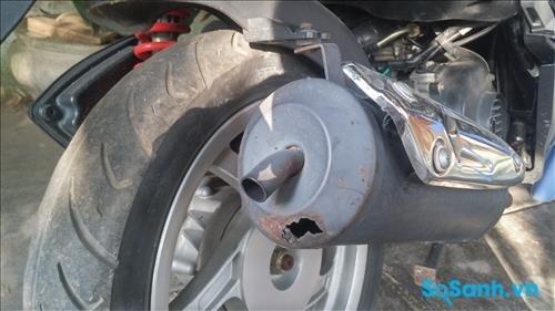 Pô xe máy bị hỏng ảnh hưởng khá nhiều đến giá trị xe
