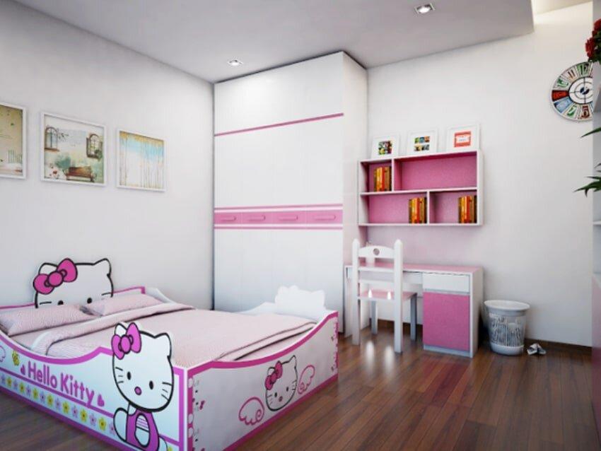 Đây là mẫu giường có thiết kế tương tự như giường trẻ em Nội Thất Thế Kỷ Hello Kitty GD05 1.2m chỉ khác nhau ở kích cỡ của chiếc giường