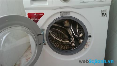 Lồng giặt của LG WD9600 được làm từ chất liệu thép không gỉ