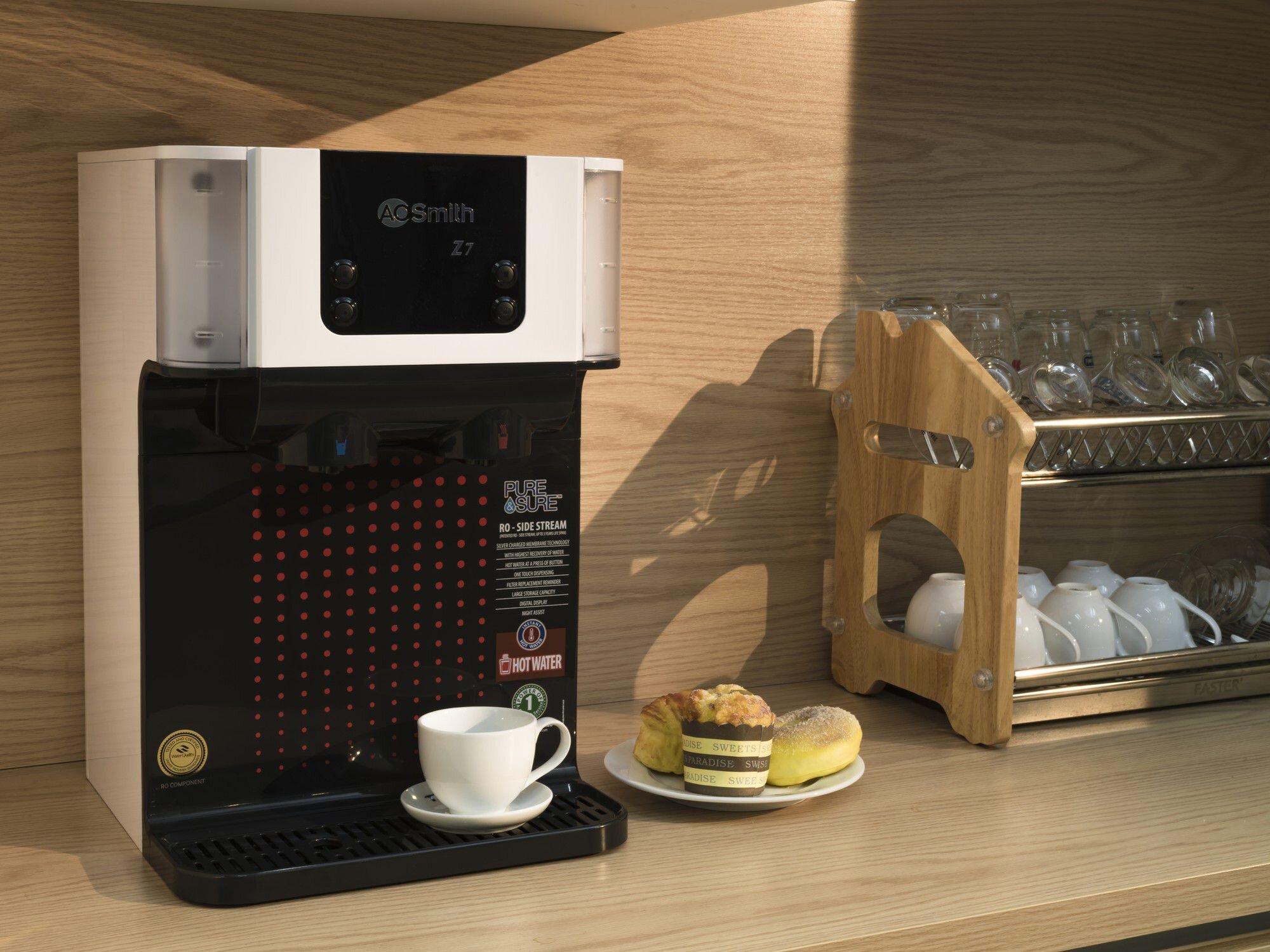 Chiếc máy nhỏ gọn có thể đặt được ngay trên bàn bếp