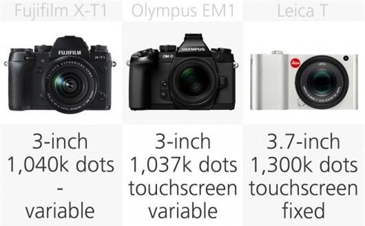 High-end mirrorless camera monitor comparison (row 1)