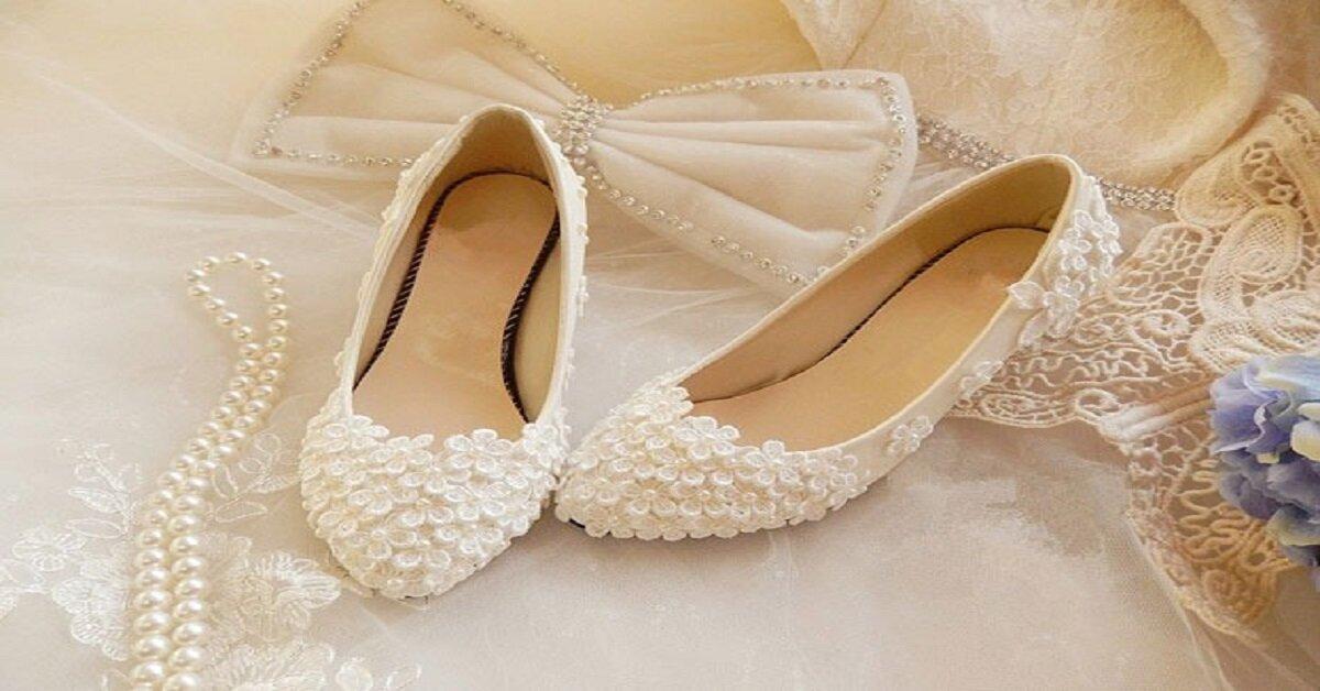 giày búp bê họa tiết