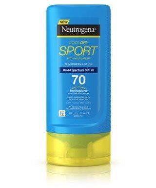 Neutrogena Cooldry sport suncreen lotion SPF 70