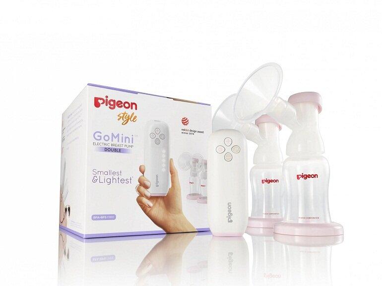 Máy hút sữa điện đôi Pigeon