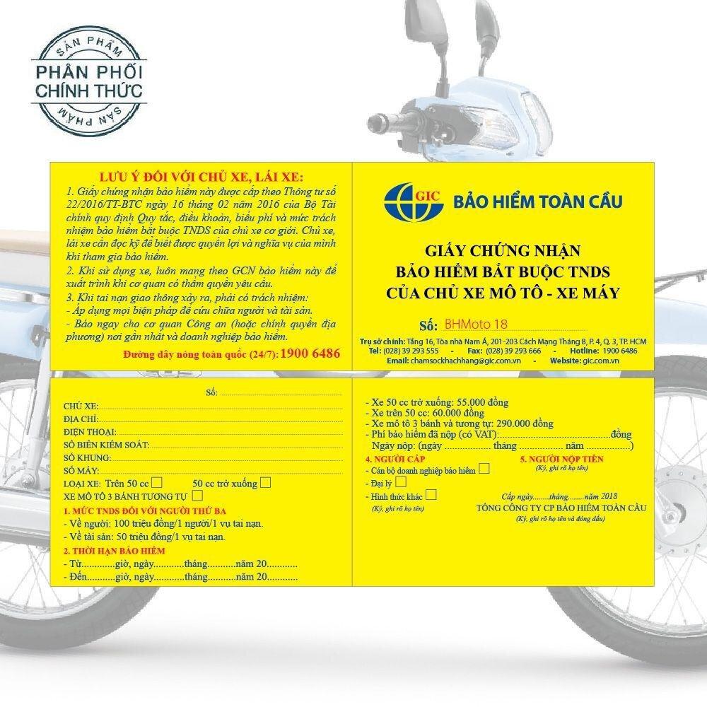 Bảo hiểm bắt buộc TNDS dành cho xe máy