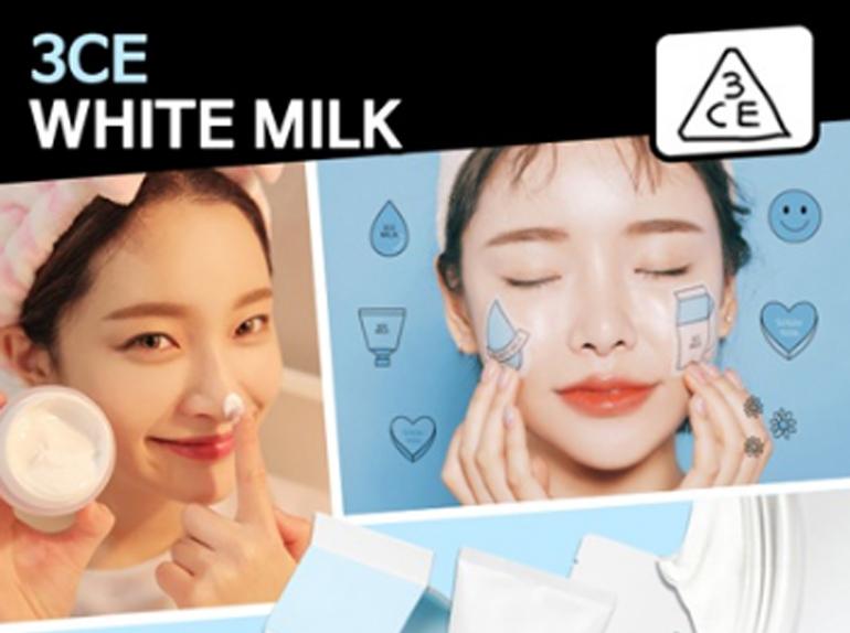 Tác dụng make up của kem dưỡng trắng 3CE White Milk