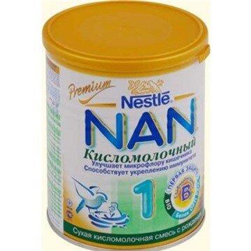 Sữa bột Nan chua số 1 (Nga) - hộp 400g (dành cho trẻ từ 0 - 6 tháng)