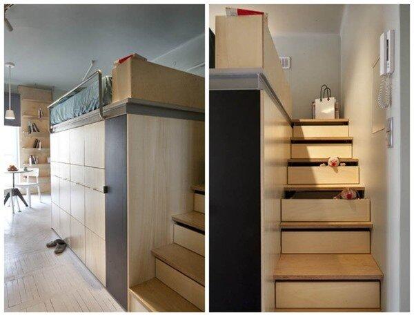 Tư vấn bố trí nội thất cho căn phòng 7,8m² có cả giường và bếp 4