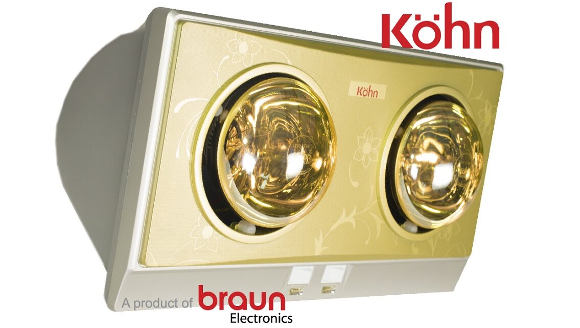 Đèn sưởi nhà tắm Kohn KN02G giá cả phải chăng phù hợp với nhiều gia đình