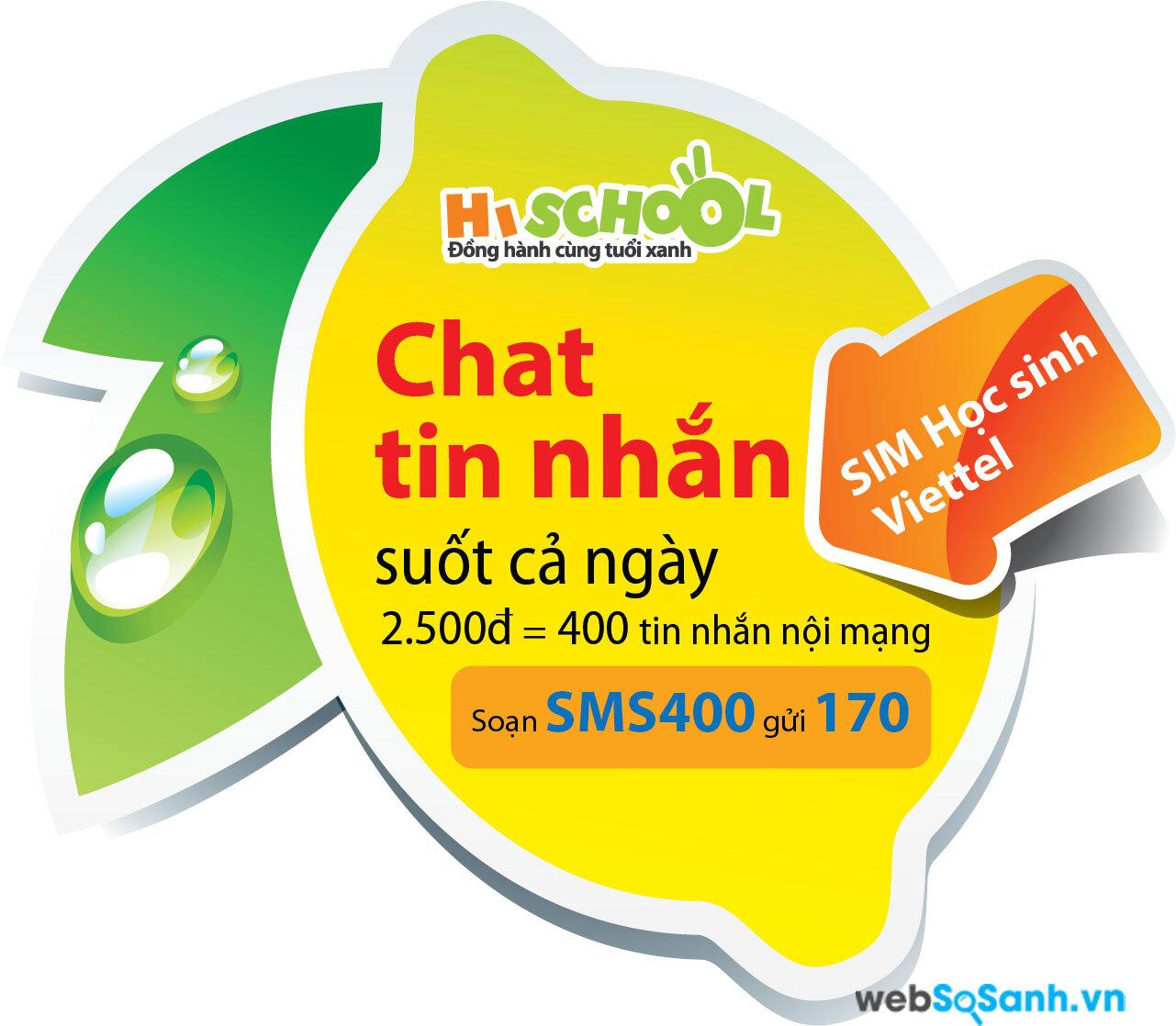 Gói khuyến mãi SMS400 được nhiều thuê bao Highschool sử dụng