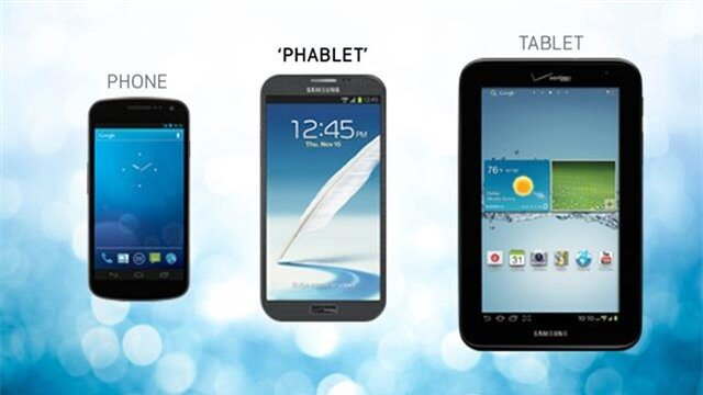 Phablet và tablet