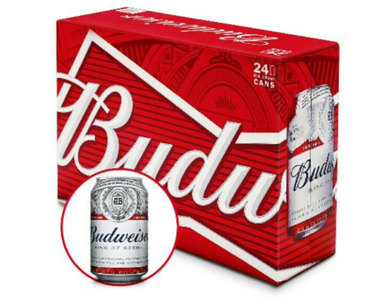 Thùng bia Bubweiser 24 lon x 330ml giảm 46% date tháng 2/2019